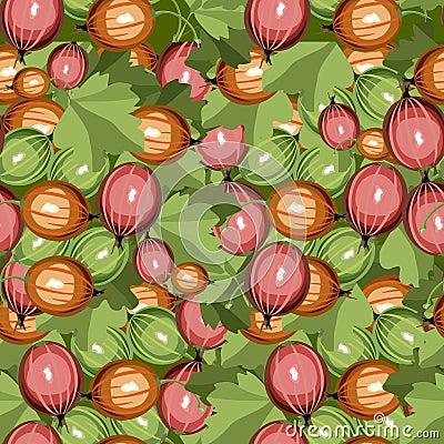 Seamless pattern gooseberry