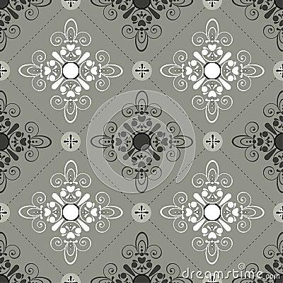 Seamless pattern gray
