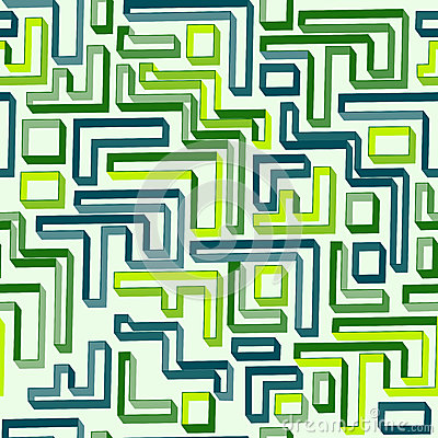 Seamless pattern of green maze