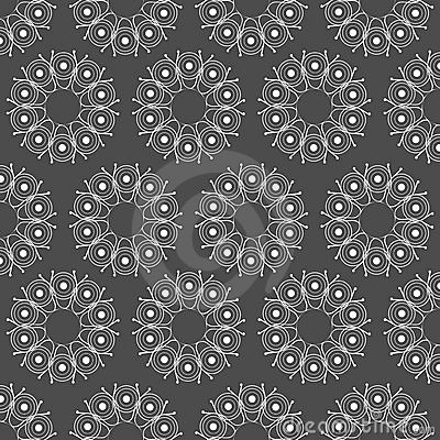 Seamless pattern on grey background