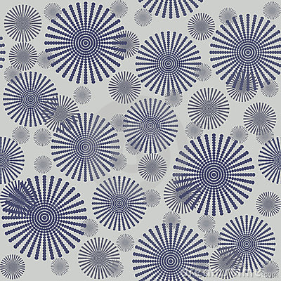 Seamless pattern with grey flowers