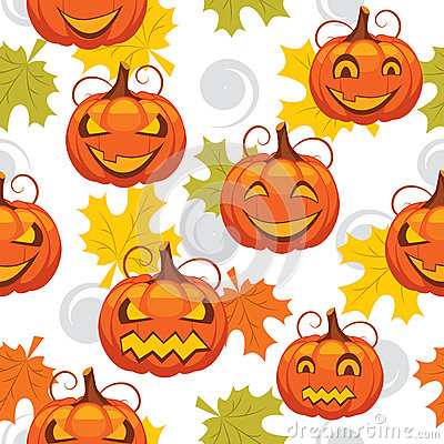 Seamless pattern of Halloween
