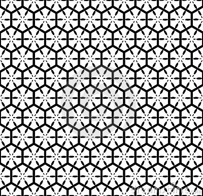 Seamless pattern with hexagonal lattice.