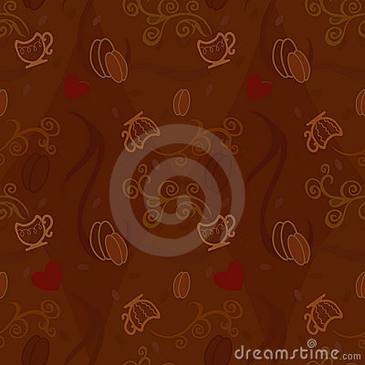 Seamless pattern I love coffee