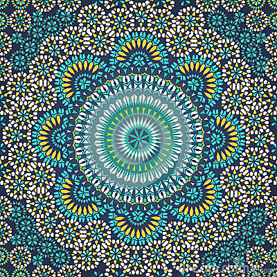 Free Seamless Pattern In Mosaic Ethnic Style. Royalty Free Stock Image - 35750806