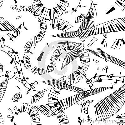 Seamless pattern of keyboards