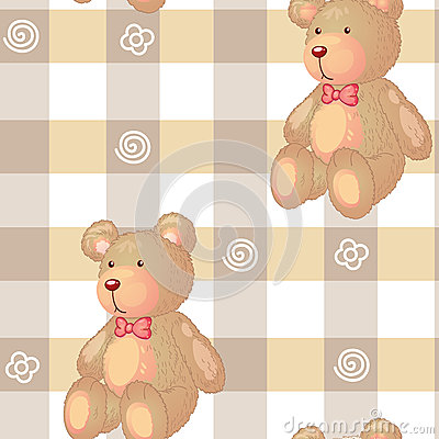 Seamless pattern with kid s theme