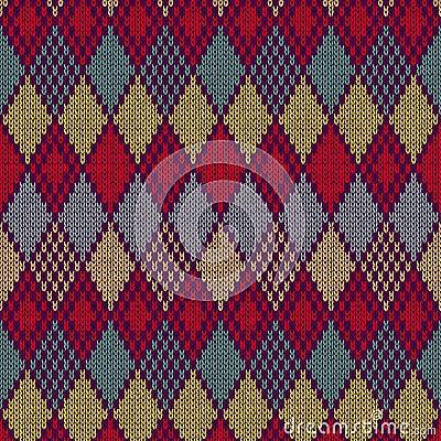 Seamless pattern. Knit texture