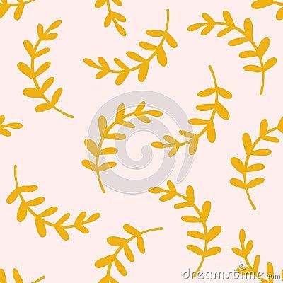 Seamless pattern leaves Vector Illustration