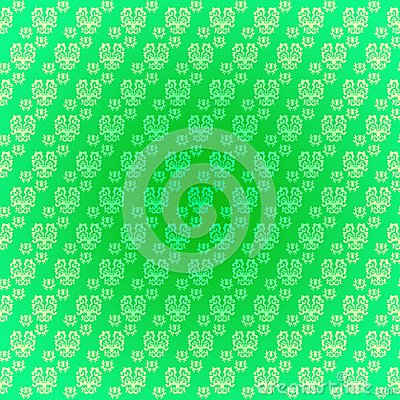 Seamless pattern light green drawings