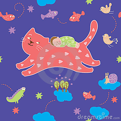 Seamless pattern - lullaby