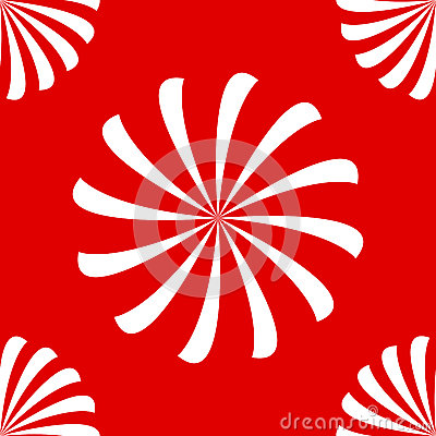 Seamless spirals on red