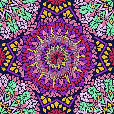 Seamless pattern of Moroccan mosaic
