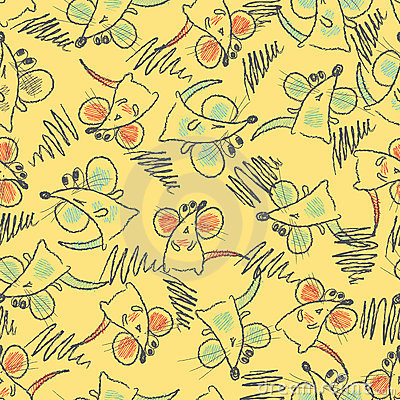 Seamless pattern - mouse