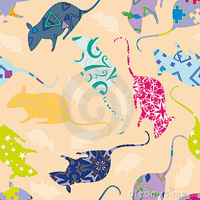 Seamless pattern with mouses