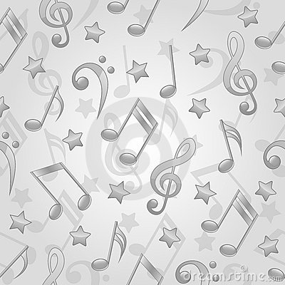 Seamless pattern with a musical notes