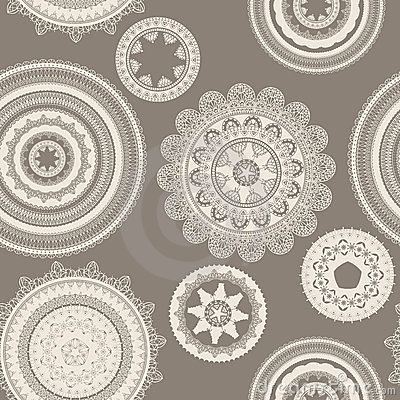 Seamless pattern with napkins