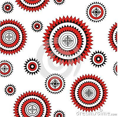 Seamless pattern northern background
