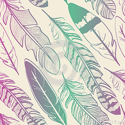 Free Seamless Pattern Of Bird Feathers Royalty Free Stock Photos - 37610268