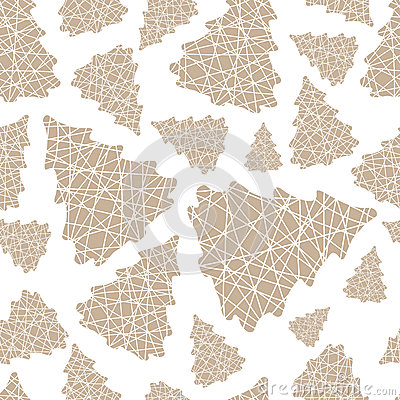 Free Seamless Pattern Of Christmas Tree Thread Royalty Free Stock Image - 47208966