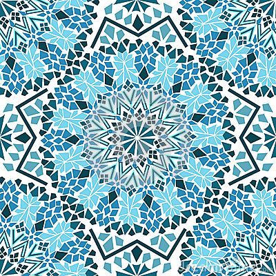 Free Seamless Pattern Of Moroccan Mosaic Stock Image - 30834901