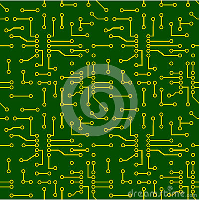 Free Seamless Pattern Of PCB Vector Stock Images - 42390294