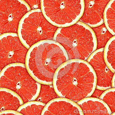 Free Seamless Pattern Of Red Grapefruit Slices Stock Image - 24853491