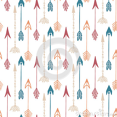 Free Seamless Pattern Of Vintage Arrow. Hand Drawn Arrows Texture For Textile, Print, Web, Wrapping. Vector Stock Images - 56882224