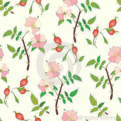 Seamless pattern with officinal brier