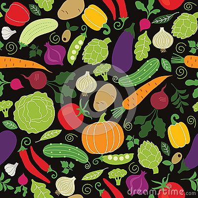 Free Seamless Pattern On A Black Background Royalty Free Stock Image - 30529726