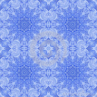 Seamless pattern paintings leaves on fabric
