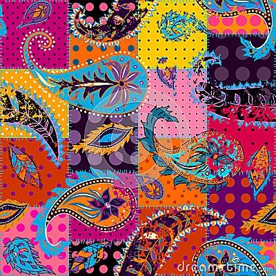 Free Seamless Pattern Paisley. Royalty Free Stock Photos - 109196488