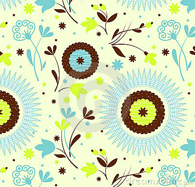 Seamless pattern petro floral
