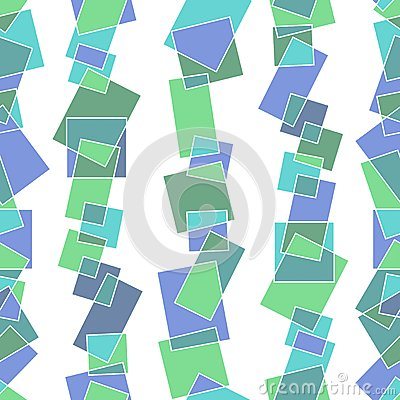 Seamless pattern with pieces of glass