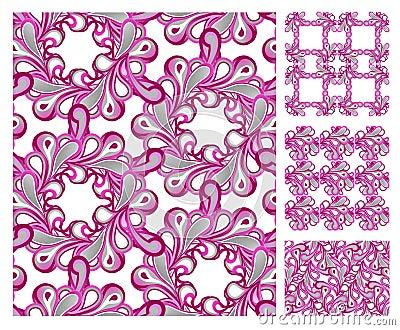 Seamless pattern - pink tiles