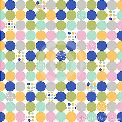 Seamless pattern, polka dot fabric