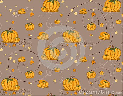 Seamless pattern - pumpkin
