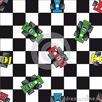 Seamless racing pattern