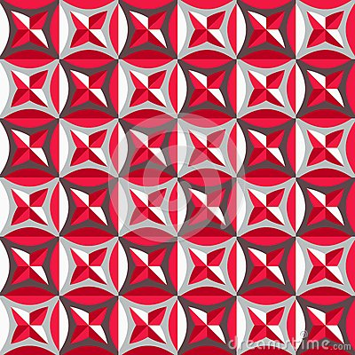 Seamless pattern in red colors