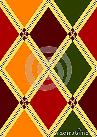 Seamless pattern in rhombuses