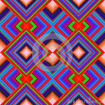 Seamless pattern of rhombuses Vector Illustration