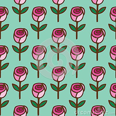 Seamless pattern of  roses flower