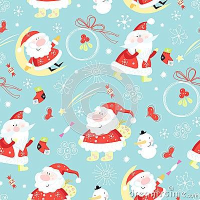 Free Seamless Pattern Santa Claus Stock Photo - 17530700