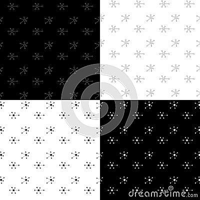 Seamless pattern set Vector Illustration