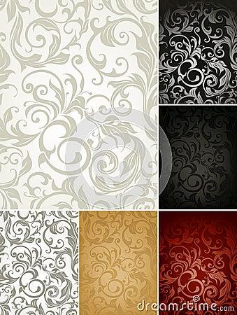 Free Seamless Pattern Set Of Six Colors Stock Photography - 20445012