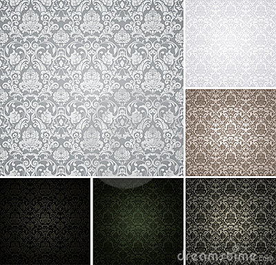 Free Seamless Pattern Set Of Six Colors Stock Images - 20445664