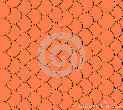 Seamless pattern of small colorful goldfish