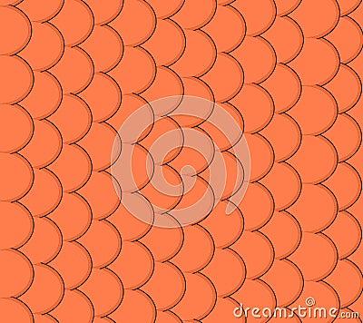 Seamless pattern of small colorful goldfish