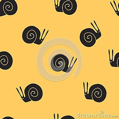 Seamless pattern snail