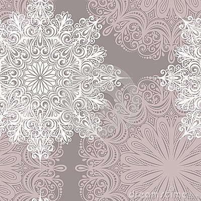 Seamless Pattern with Snowflakes (Vector)